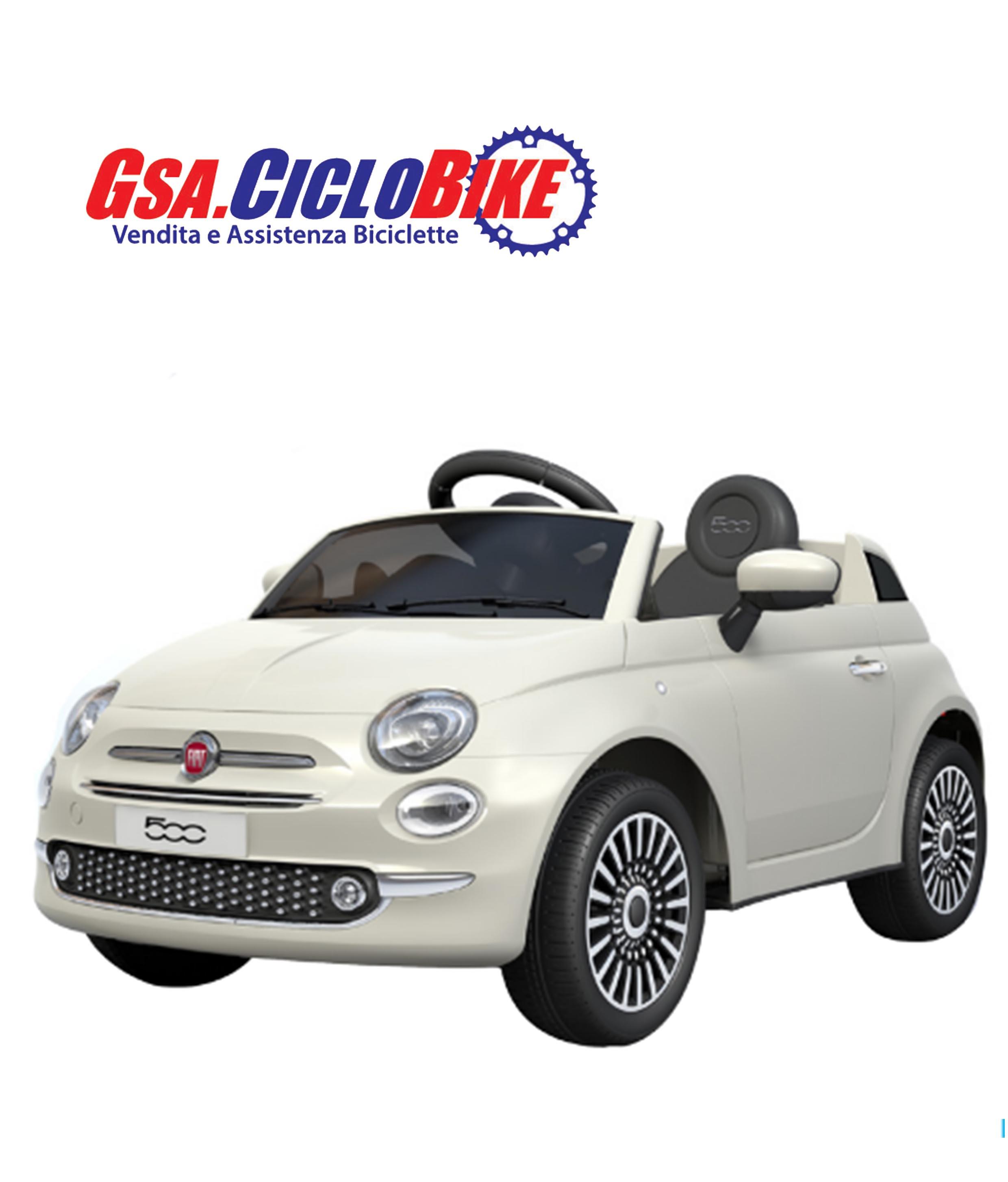958455d137 AUTO ELETTRICA PER BAMBINI MODELLO FIAT 500 LICENZIATA TELECOMANDATA ...