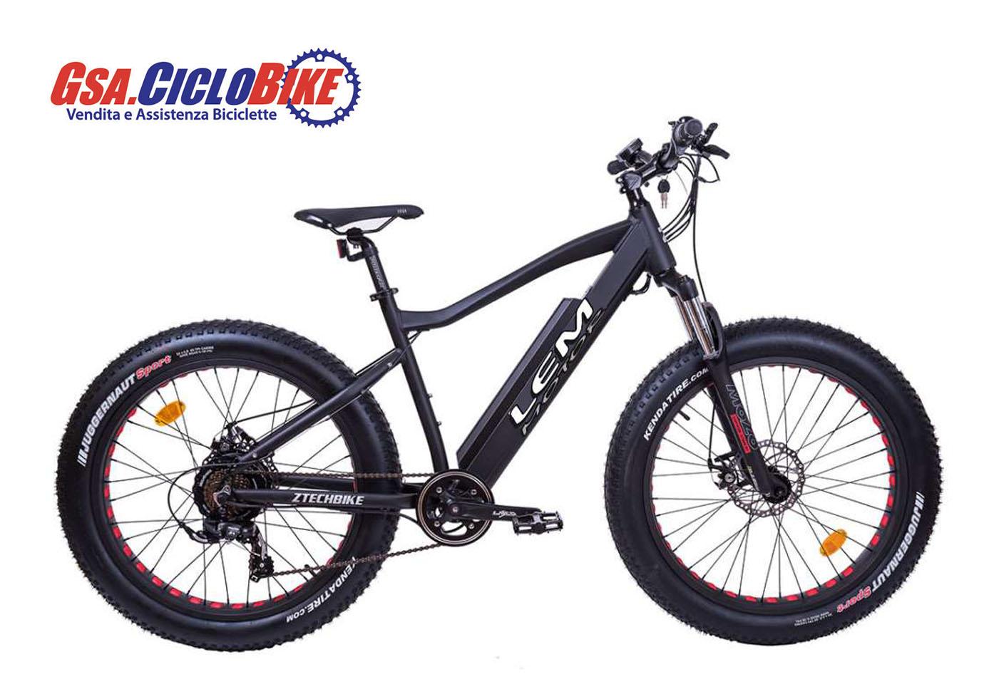Bicicletta Elettrica Lem E Bike Vesuvio Ztech 87 Pedalata Assistita Colore Nero