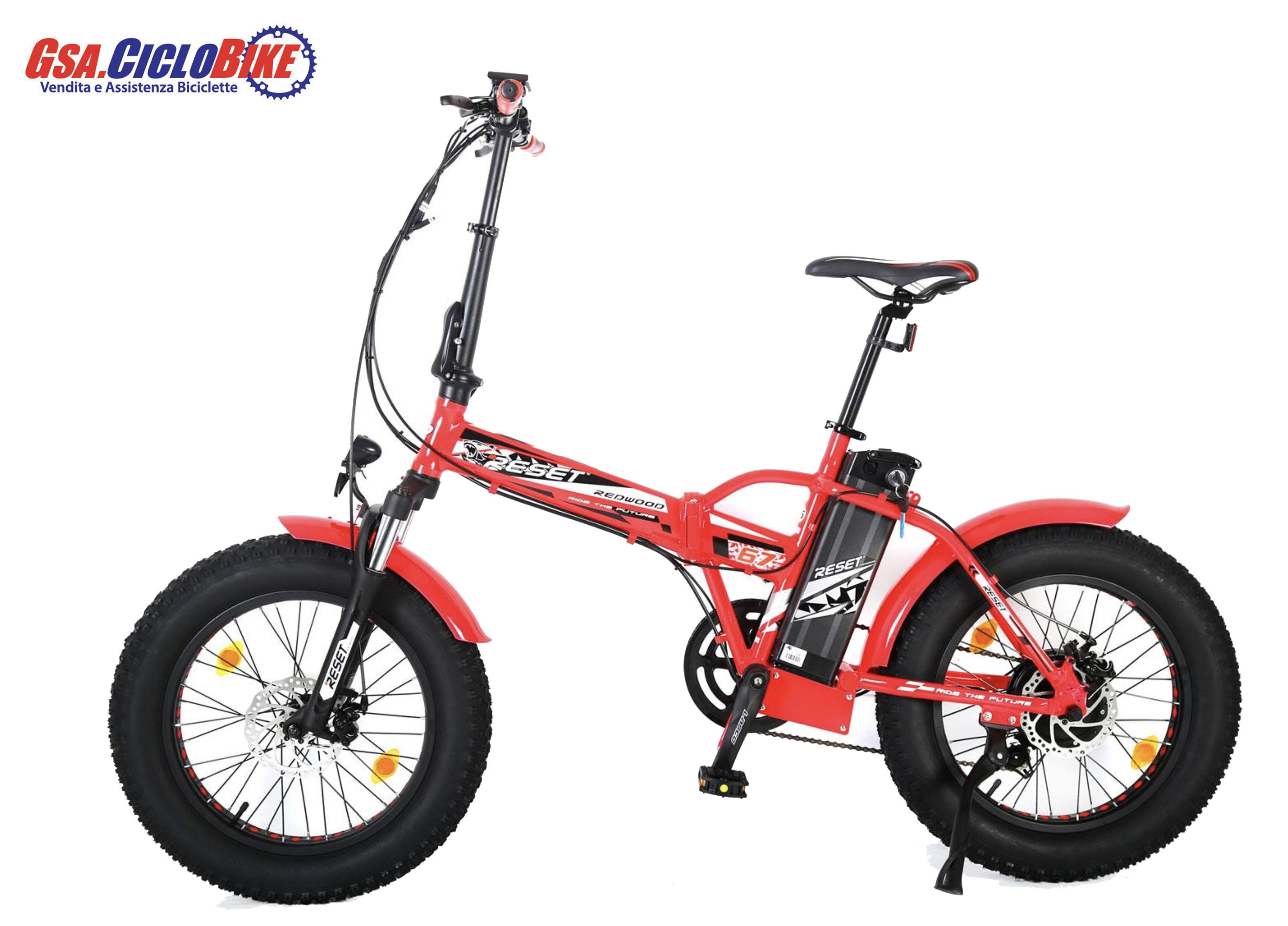 Bicicletta Elettrica Rossa