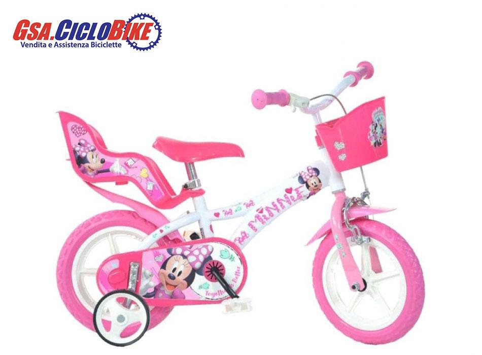 Bicicletta Bambina Misura 12 Personaggio Minnie