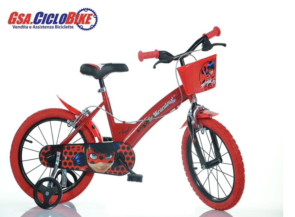 Bicicletta Bambina Misura 14 Personaggio Miraculous Lady Bug